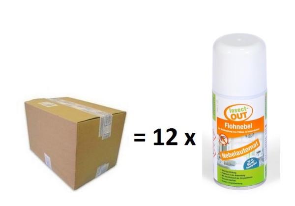 Mit dem Wirkstoff der Chrysantheme - Flohnebel 150 ml im 12er Set - Insect-OUT®