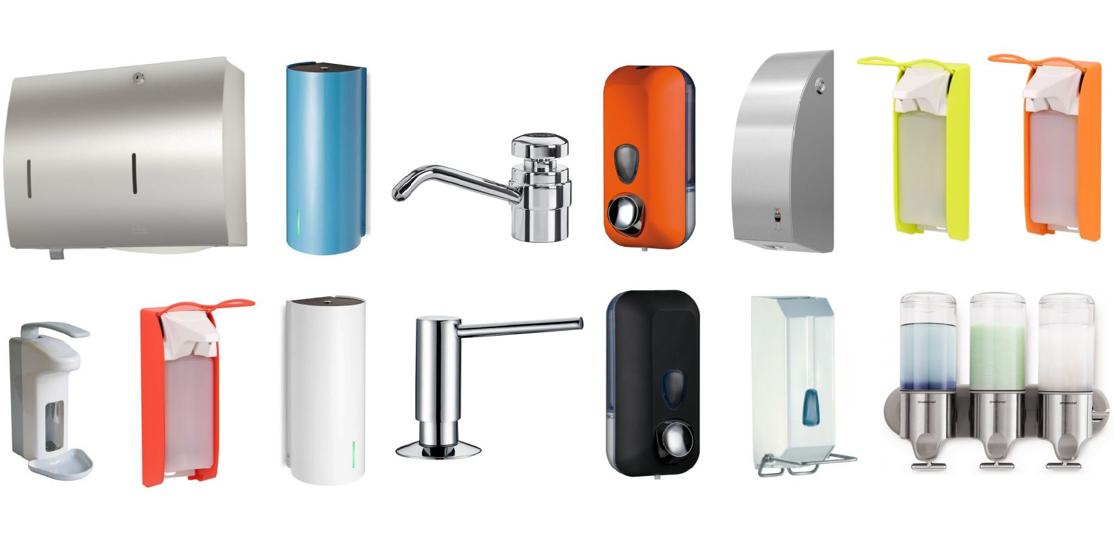 Sensor-and-Push-Button-Soap-Dispensers