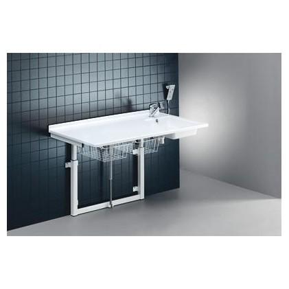 Pressalit Wickeltisch mit Waschbecken, Armatur, Handbrause, Zu- und Ablaufsystem Pressalit R8732