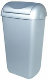 PlastiQline waste bin with swing lid aviable for free standin or wall mounting PlastiQ-line 5675,5677