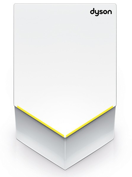 Dyson white handdryer V 35 procent quieter made of polycarbonat 1600W Dyson 25772-01