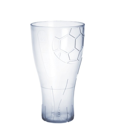 EURO CUP football beer glass 0,5l crystal clear plastic reusable food safe Schorm GmbH 9053