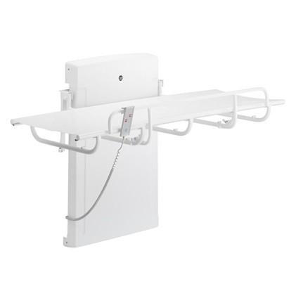 Pressalit Weiße Dusch- und Pflegeliege mit Motor, 765x1400mm oder 765x1800mm Pressalit  R8 402 - R8 403