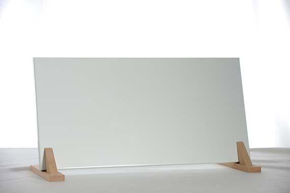 Infrarot Flachheizung 200W in RAL Farbtönen ohne Aufpreis incl. Wandhalterung und Holzfüßen Natur 7° Elbo therm ST 200