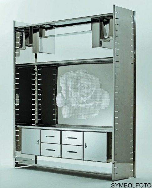 Graepel High Tech Aktenhalter aus Edelstahl fŸr das H2 oder H2 Giant Regalsystem Graepel Hightech K00089920