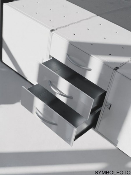 Graepel High Tech 3 Schubladen aus gebŸrstetem Edelstahl Graepel Hightech K00088064