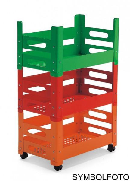 Graepel High Tech erstklassiges P.U.B Schrankelement rot lackiert - stapelbar