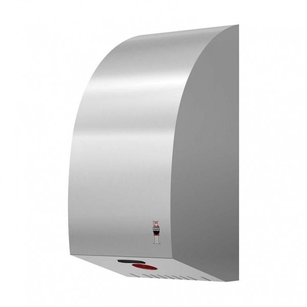 Dan Dryer Turbo hand dryer 1600W made of brushed stainless steel with IR sensor Dan Dryer A/S 288