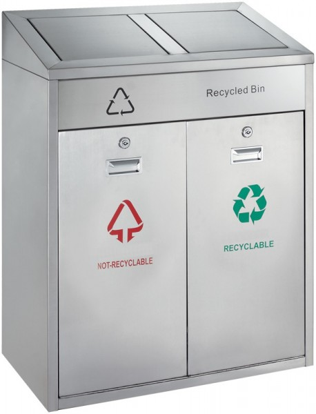 Outdoor Recycling Bin 2x21L VB 667802