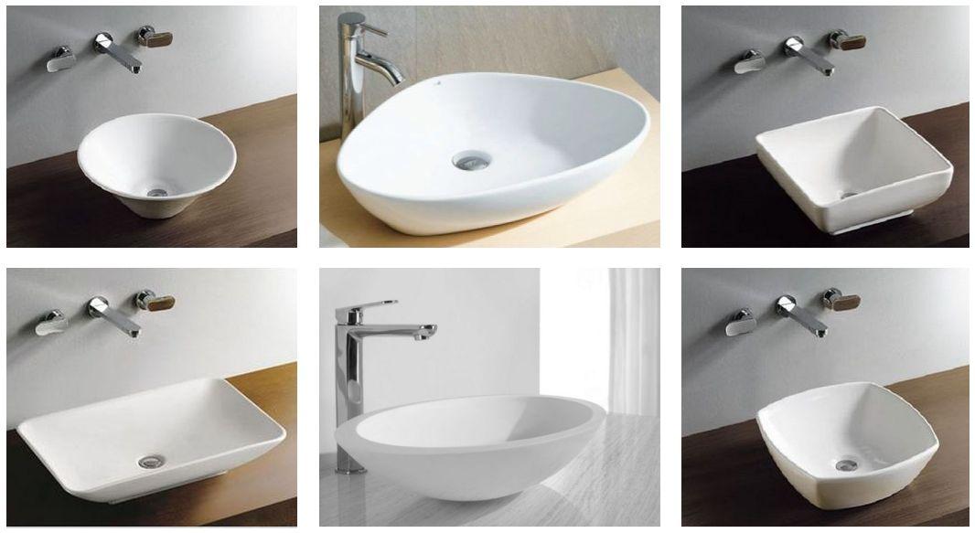 Waschbecken-Aufsatzwaschtische-Weiss