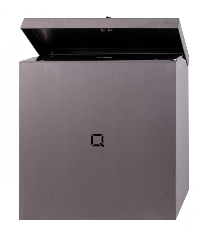 sanitary waste bin made of stainless steel from qbic line rh hygiene shop eu