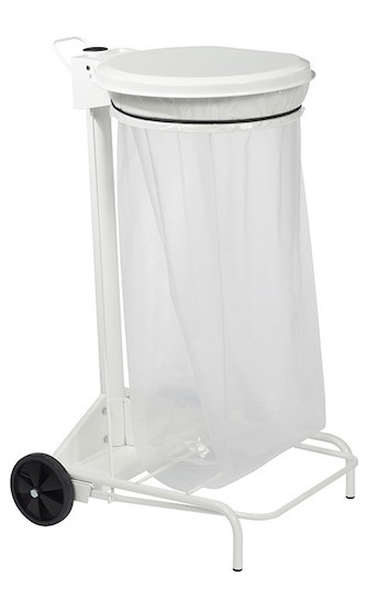 Rossignol Collecroule mobile pedal bin bag holder 110 liter with wide pedal Rossignol 57330,57331,57333,57334,57370,56501