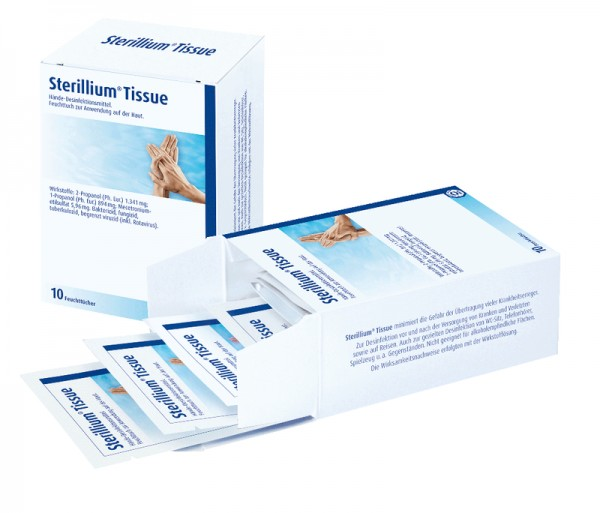 Sterillium® Tissue Hände Desinfektionstücher für unterwegs Paul Hartmann Ges.m.b.H. 15 Stück