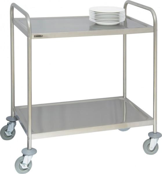 Casselin stainless steel trolley - 2 or 3 shelves - 4 swivel castors with 2 brakes Casselin CCI2,CCI3
