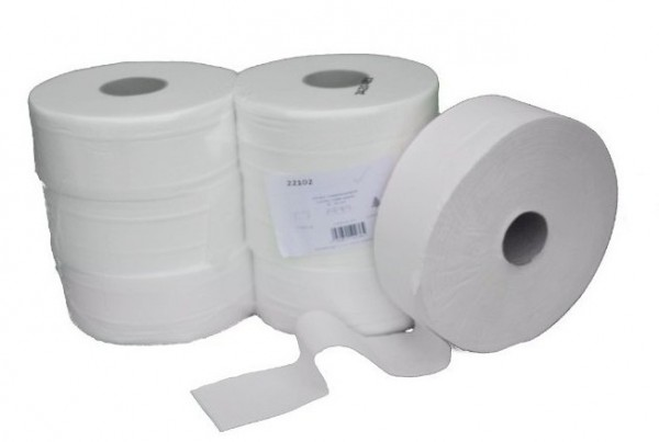 Range (49 packs of 6 pieces) Jumbo toilet paper - 2-ply - cellulose bright white Jumbo-Toilettenpapier 22102