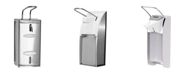Inox-Soap-Dispensers-with-Arm-Lever