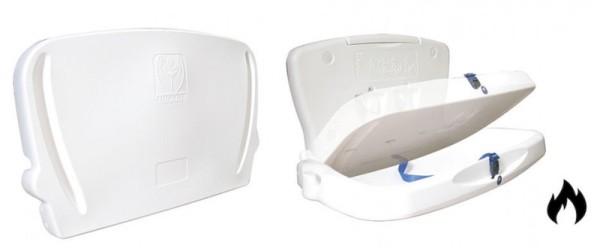 Vectair feuerfester und horizontaler Wickeltisch aus Kunststoff mit Sicherheitsgurt Vectair Systems JBABYHORIIFIRE