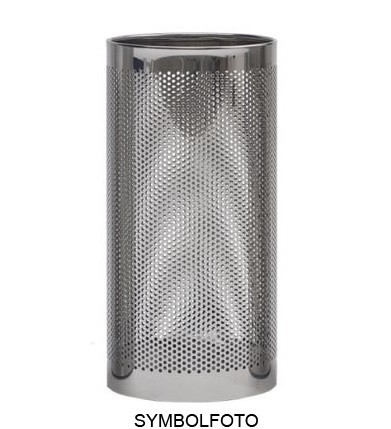 Graepel G-Line Pro FORATO umbrella stand made of silver painted steel 1.4016 G-line Pro K00021199