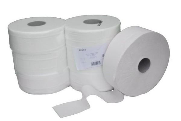 Jumbo-Toilettenpapier-Verpackungseinheit 6 Rollen - 300m -2 lagig - Zellstoff 22102