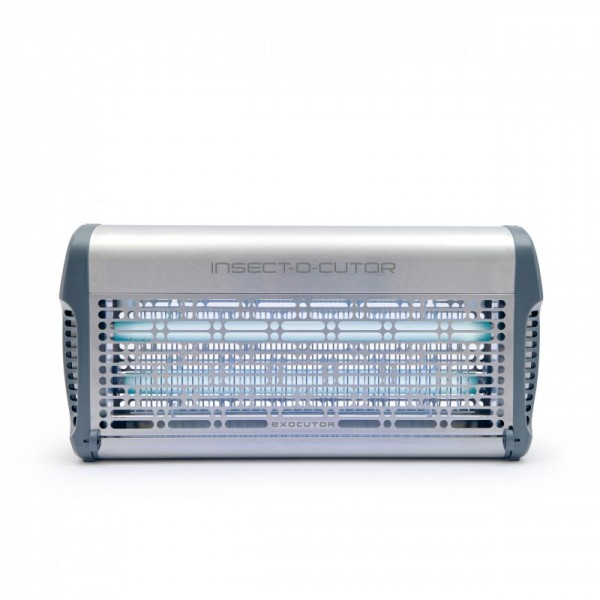 Exocutor Insect Killer with 30 watts available in modern stainless steel or white metal Insect-o-cutor EX30W,EX30S