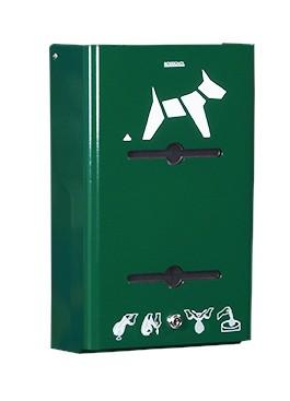 Hygeca Hundekotbeutelspender aus Stahl zur Wandmontage in 5 Farben von Rossignol