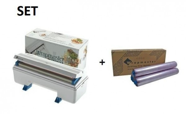 SET Efficient Wrapmaster dispenser 3000 and cling film 3000 from Polyethylene Wrapmaster 63M90,18C14