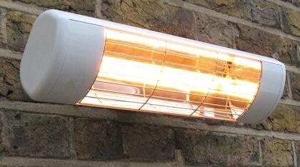 Heatlight Heizstrahler weiss mit Infrarottechnologie für den Außenbereich 1500W Heatlight Infrarot HLW15G