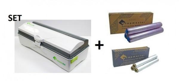 SET All in one Wrapmaster duo Spender und Frischhaltefolie sowie Alufolie 4500 Wrapmaster 63M50,18C15,23C89