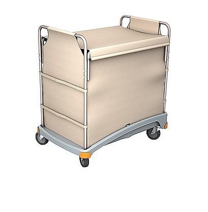 Splast Hotelservicewagen in weiß mit grauer Basis aus Kunststoff Splast TSB-0001