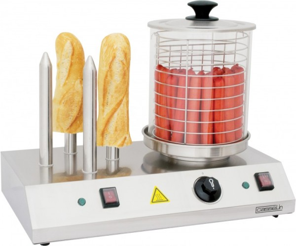 Casselin electric hot-dog machine in stainless steel 960W with 4 bread sticks Casselin CMH1