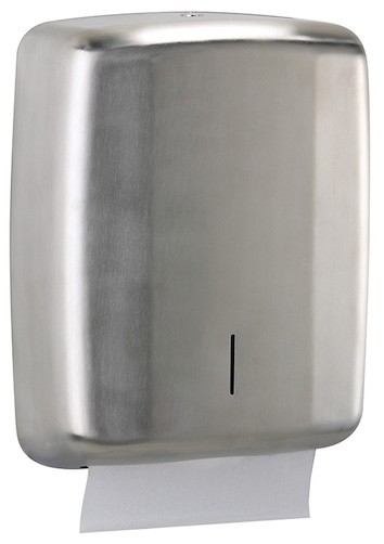 Rossignol Lensea hand towel dispenser 400 sheet made of stainless steel Rossignol 52674,52675