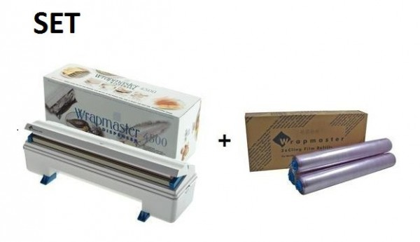 SET Efficient Wrapmaster dispenser 4500 and cling film 4500 from Polyethylene Wrapmaster 63M91,18C15
