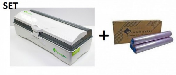 SET Efficient Wrapmaster duo dispenser for precise handling and cling film 4500 Wrapmaster 63M50,18C15