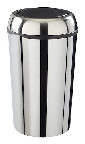 Rossignol Swingy waste container made of stainless steel with swing lid 50 liters Rossignol 59777