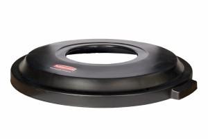 Black Atrium™ waste lid for the BRUTE waste bin RI000086 RUBBERMAID