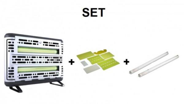 SET Insect-O-Cutor + 1x6 Klebefolien Edge + 2x Röhre Splitterschutz Insect-o-cutor ZF105,INF198,TGX15-18S