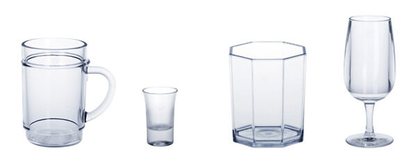 Kunststoffgläser, Kunststoff Whiskyglas, Mehrweg Schnappsglas, Kunststoff Spritzerglas