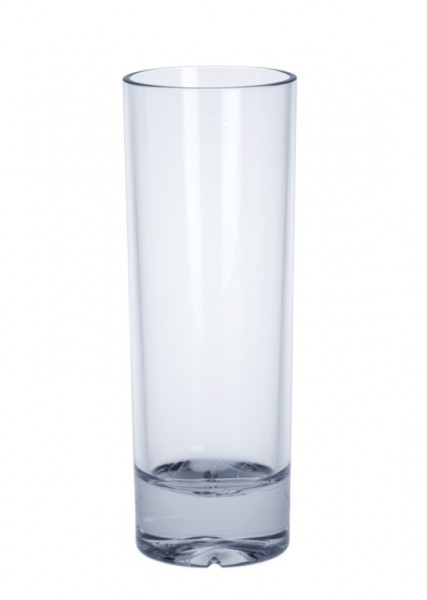 6 piece Longdrink Glass exklusiv of plastic 0,2l SAN crystal clear reusable Schorm GmbH 9091