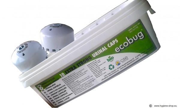 10-er - Set EcoBug® Extra strong urinal cap - Wasserloses Urinal-System Ecobug E1001,E1002