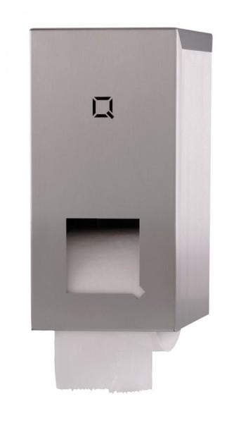 Qbic-Line toilet paper dispenser for 2 coreless rolls Qbic-line 7260 QTR2C SSL