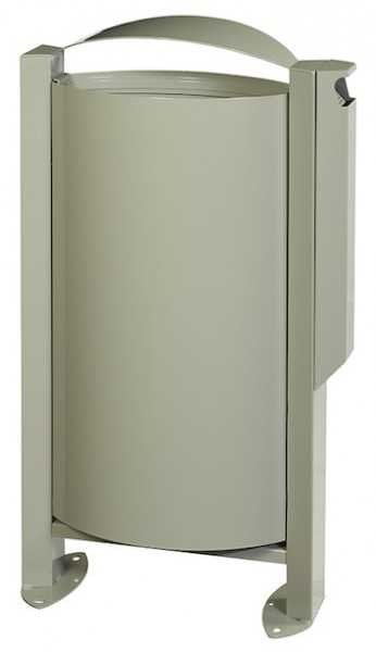 Rossignol Arkea free standing trash can 60 liter made of steel with ashtray 3L Rossignol 56525,56528,56529,56250
