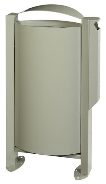 Arkea Standmodell Abfallbehälter 60L mit Standfuss und Ascher 3L von Rossignol