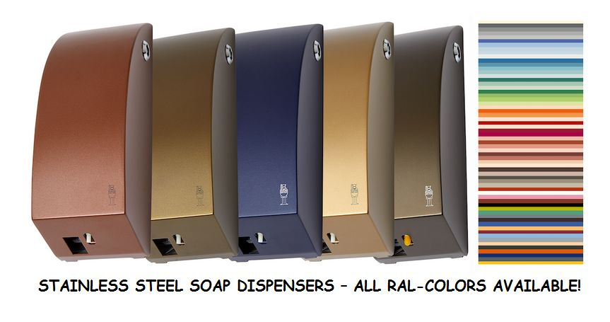 Stainless-Steel-Soap-Dispensers-in-every-RAL-Color