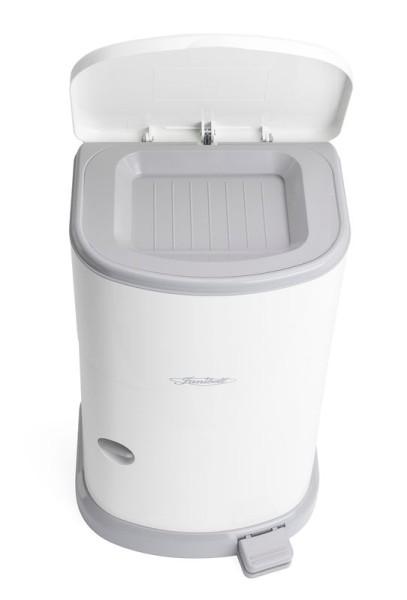 Janibell® Akord Slim weißer Windeleimer 24L für die Entsorgung von Baby-Windeln