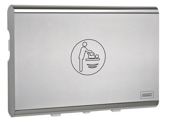 Mediclinics Wickeltisch CP0016HCS horizontal Biocote®-Schutz Kunststoff Edelstahlfront