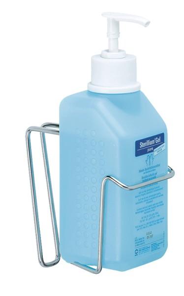 Spender in Drahtkonstruktion mit gerader Halterung für 500 ml Flaschen Paul Hartmann Ges.m.b.H.  Spender in Drahkonstruktion mit gerader Halterung