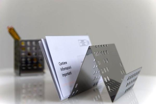 Graepel G-Line Pro QUADROTTO leaflets holder made of polished stainless steel G-line Pro K00016130