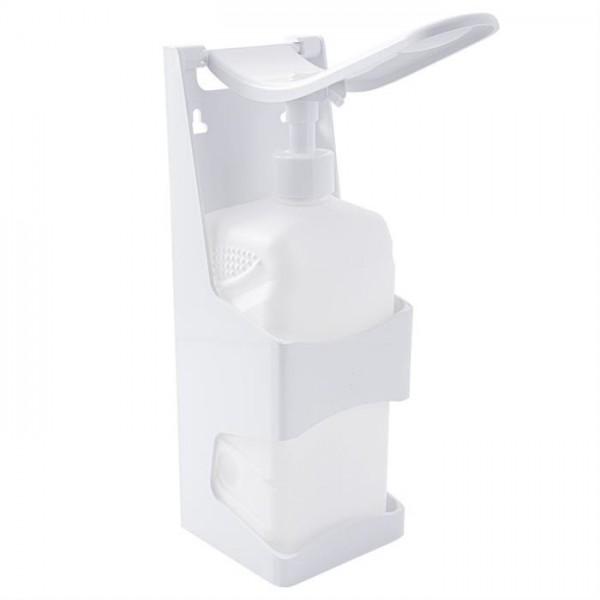 Desinfektionmittelspender Nachfüllbar für Desinfektionsmittel, mit manueller Hebelbedienung, höhenverstellbar