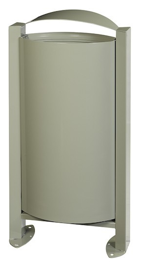 Rossignol Arkea trash can 60 liter made of steel without ashtray with pedestal Rossignol 56320,56323,56324,56247