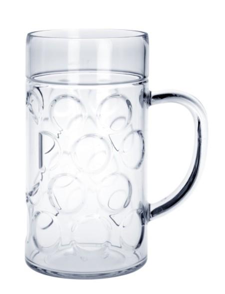 20 piece Beer mug 1l SAN Crystal clear of plastic dishwasher safe and food safe Schorm GmbH 9058
